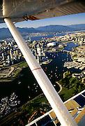Seaplane over Vancouver, Canada