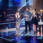 NLD/Hilversum/20160122 - 6de live uitzending The Voice of Holland 2016, finaliste Maan
