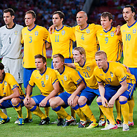 Team Sweden before the UEFA EURO 2012 Group E qualifier Hungary playing against Sweden in Budapest, Hungary on September 02, 2011. ATTILA VOLGYI