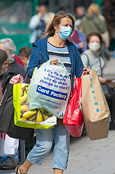 ©Licensed to London News Pictures 24/09/2020  <br /> Bromley, UK. A shoppers in Bromley High Street, Bromley, South East London wearing A protective mask today to help protect themselves and others from the threat of Coronavirus. Photo credit:Grant Falvey/LNP