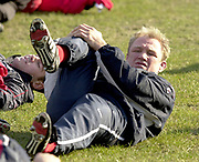 © Peter Spurrier/ Intersport, Images  020 8 876 8611<br /> email images@Intersport,.co.uk<br /> Photo Peter Spurrier<br /> 19/03/2003<br /> Sport - Rugby - Six Nations Championships:<br /> England Squard Training at Pennyhill Park<br /> Neil Back