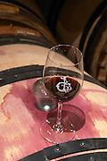 glass bungs on barrels chateau haut brion pessac leognan graves bordeaux france