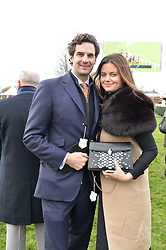 MR RUPERT & LADY NATASHA FINCH at the 2015 Hennessy Gold Cup held at Newbury Racecourse, Berkshire on 28th November 2015.