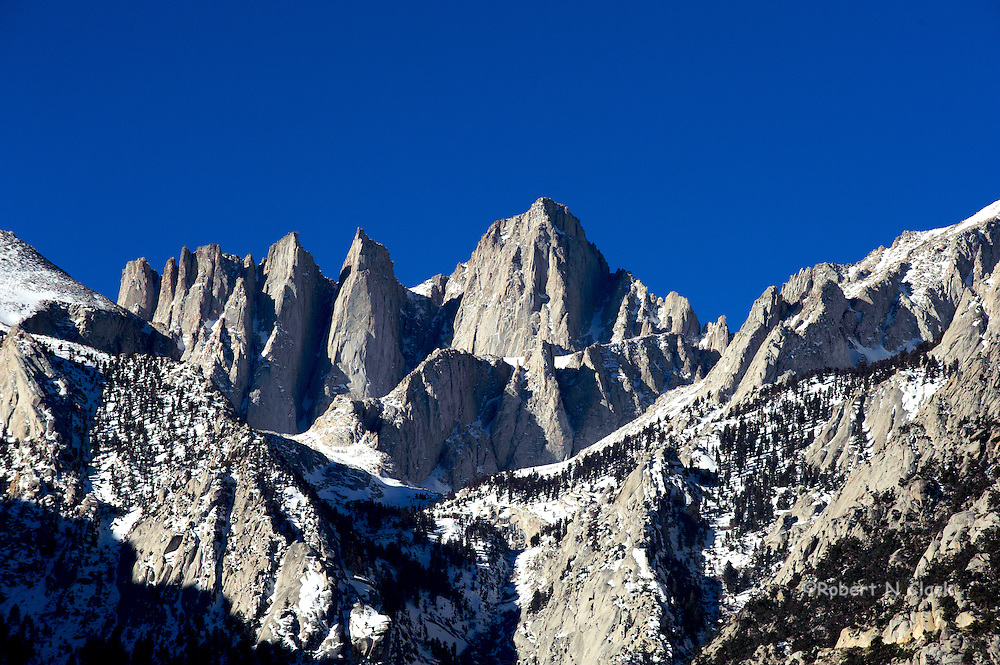 Mount Whitney in early January 2013