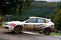 MOTORSPORT - WORLD RALLY CHAMPIONSHIP 2010 - RALLYE DE FRANCE / ALSACE  - STRASBOURG (FRA) - 30/09 TO 03/10/2010 - PHOTO : ALEXANDRE GUILLAUMOT / DPPI - <br /> GRONDAL Anders (NOR) / ENGAN Veronica (NOR) - ANDERS GRONDAL WRC RALLY TEAM - SUBARU Impreza STI- Action