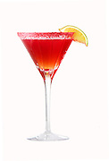Red Martini With Lemon