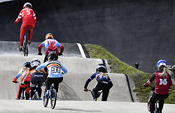 August 11, 2018 - Glasgow, UNITED KINGDOM - Belgian BMX cyclist Elke Vanhoof pictured in action during the Semifinal of the women's BMX event at the European Championships, in Glasgow, Scotland, Saturday 11 August 2018. European championships of several sports will be held in Glasgow from 03 to 12 August. BELGA PHOTO ERIC LALMAND (Credit Image: © Eric Lalmand/Belga via ZUMA Press)