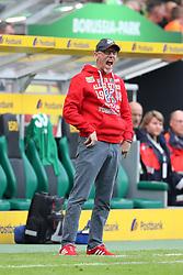 MOENCHENGLADBACH, Aug. 21, 2017  Head Coach of 1. FC Koeln Peter Stoeger reacts during the Bundesliga match between Borussia Moenchengladbach and 1. FC  Koeln at Borussia-Park on August 20, 2017 in Moenchengladbach, Germany. (Credit Image: © Ulrich Hufnagel/Xinhua via ZUMA Wire)