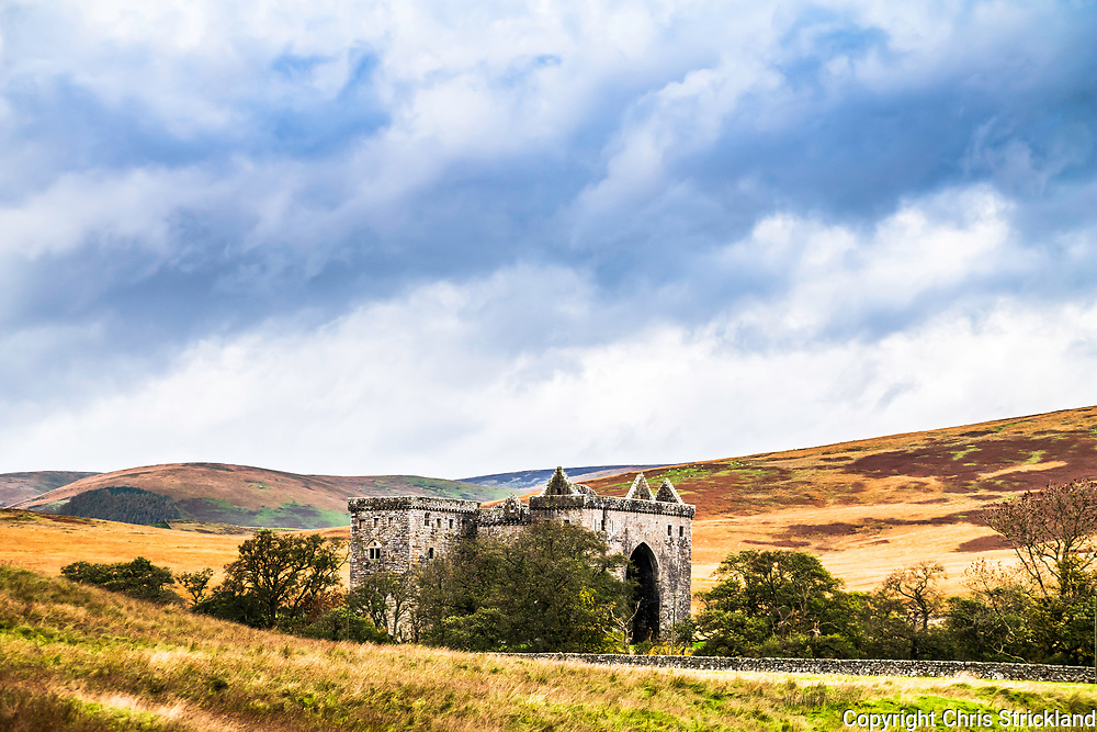 """Hermitage, Hawick, Scottish Borders, UK. 12th October 2018. Once home of the Border Reivers including the 'Bold Buccleuch', Hermitage castle is known as the guardhouse of the bloodiest valley in Britain, and the """"Strength of Liddesdale""""."""