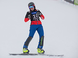 Ulbing Daniela during the woman's Snowboard giant slalom of the FIS Snowboard World Cup 2017/18 in Rogla, Slovenia, on January 21, 2018. Photo by Urban Meglic / Sportida