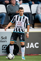 Brahim Darri of Heracles Almelo during the Dutch Eredivisie match between Heracles Almelo and Feyenoord Rotterdam at Polman stadium on September 09, 2017 in Almelo, The Netherlands