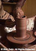 Landis Valley Farm Museum, Lancaster Co., PA, Potter's wheel