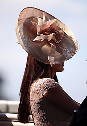 A Racegoer trackside during day four of Royal Ascot at Ascot Racecourse