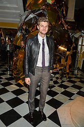 JIM CHAPMAN at a party to celebrate theunveiling of the Claridge's Christmas Tree designed by Christopher Bailey for Burberryheld at Claridge's, Brook Street, London on 18th November 2015.