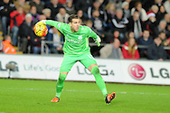 Adrian, the West Ham goalkeeper in action. Barclays Premier league match, Swansea city v West Ham Utd at the Liberty Stadium in Swansea, South Wales  on Sunday 20th December 2015.<br /> pic by  Andrew Orchard, Andrew Orchard sports photography.