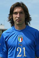 Coverciano 27/5/2004 Ritiro della nazionale italiana in vista degli Europei 2004 in Portogallo. <br /> Andrea Pirlo, Italy, Midfielder.<br /> Foto: Graffiti/Digitalsport<br /> NORWAY ONLY<br /> Fotball<br /> Italia Euro 2004