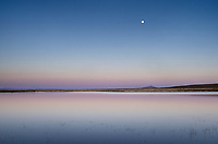 Full moon rising over Paiute Lake, Hart Mountain National Antelope Refuge Oregon