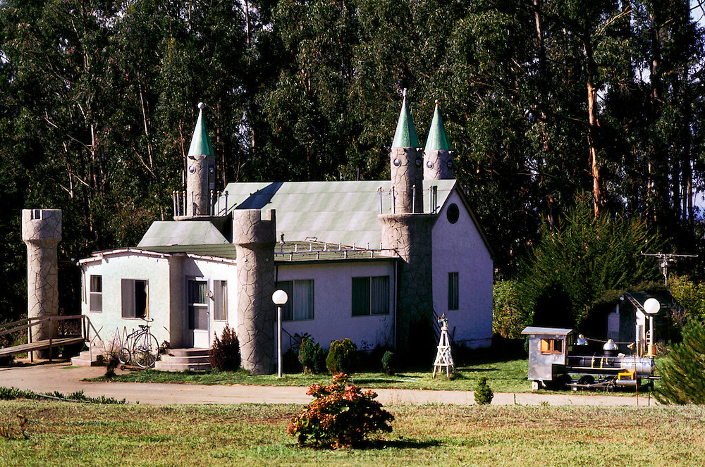 'Castle' house. Castroville, California. USA.