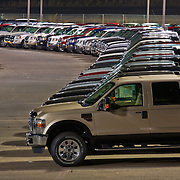 Folsom Ford Dearlership showing non-wanted surplus of Autos from the 08-09 recession.