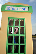Chris O'Sullivan from Cahersiveen with his newly installed 'old Telephon' box in his driveway..Picture by Don MacMonagle.Story by john O'Mahony