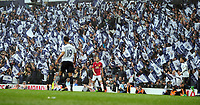 Football - 2016 / 2017 Premier League - Tottenham Hotspur vs. Manchester United<br /> <br /> Tottenham fans wave their flags during the game at White Hart Lane.<br /> <br /> COLORSPORT/ANDREW COWIE