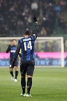 """Esultanza Fredy Guarin Inter.Goal celebration.Milano 09/12/2012 Stadio """"San Siro"""".Football Calcio Serie A 2012/13.Inter v Napoli.Foto Insidefoto Paolo Nucci."""