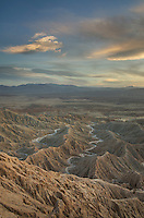 Sunset over Borrego Badlands from Fonts Point, Anza-Borrego Desert State Park California
