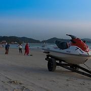 Jetski On Trailer On Cenang Beach After Sunset, Langkawi, Malaysia