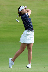 March 2, 2019 - Singapore - In Gee Chun of South Korea plays a shot on the 2nd hole during the third round of the Women's World Championship at the Tanjong Course, Sentosa Golf Club. (Credit Image: © Paul Miller/ZUMA Wire)