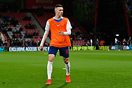 Phil Foden of England U21's warming up before the U21 International match between England and Germany at the Vitality Stadium, Bournemouth, England on 26 March 2019.