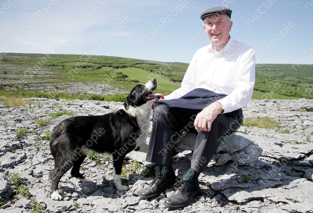 Carron native Paddy Hynes with his old pal Spot who is releasing an album titled 'Tales from the Burren' in the coming weeks.<br /><br /><br /><br /><br /><br />Photograph by Yvonne Vaughan.