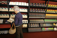 A visitor to the Edinburgh International Book Festival browses a selection of books for sale at the Edinburgh International Book Festival. The Book Festival was the World's largest literary event and featured writers from around the world. The 2006 event featured around 550 writers and ran from 13-28 August.
