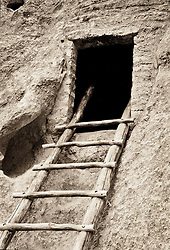 Ladder in Bandelier National Monument, New Mexico, USA