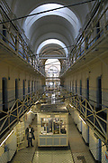 An empty E wing at Wandsworth prison in London. It was emptied of prisoners in 2005 so it could be refurbished. .HMP Wandsworth in South West London was built in 1851 and is one of the largest prisons in Western Europe. It has a capacity of 1456 prisoners.