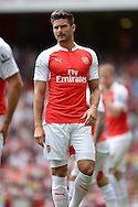 Olivier Giroud of Arsenal looking on. Barclays Premier League, Arsenal v West Ham Utd at the Emirates Stadium in London on Sunday 9th August 2015.<br /> pic by John Patrick Fletcher, Andrew Orchard sports photography.
