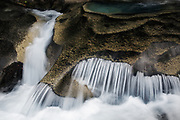 Paradise River cascading over granite rocks in Mt Rainier National Park