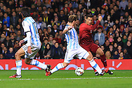 Cristiano Ronaldo of Portugal tries so fancy footwork to find space to get a shot away - Argentina vs. Portugal - International Friendly - Old Trafford - Manchester - 18/11/2014 Pic Philip Oldham/Sportimage