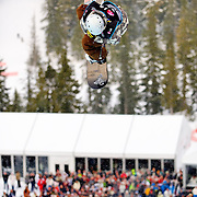 Finland National Snowboard Team member Markus Malin competes in the half pipe during finals at the 2009 LG Snowboard FIS World Cup at Cypress Mountain, British Columbia, on February 16th, 2009. Malin finished 11th in the field of 70.