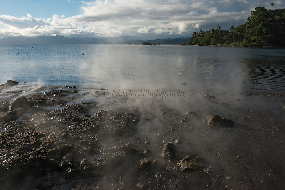 Savusavu Bay Hotsprings<br /> Vanua Levu<br /> Fiji. <br /> South Pacific<br /> Natural hot springs that locals use for cooking or steam therapy