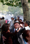 Elderly pensioners get together to dance in public at Fuxin Park in Shanghai, China on 09 November, 2011.  Despite its seemingly endless supply of young people, China is a rapidly greying society, one that will reach the level taht seen in Japan before it becomes wealthy.