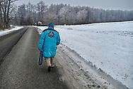 SERIES - UNRLIABLE-SIGHTINGS by PAUL WILLIAMS- Man walking in snow Valem Hungary
