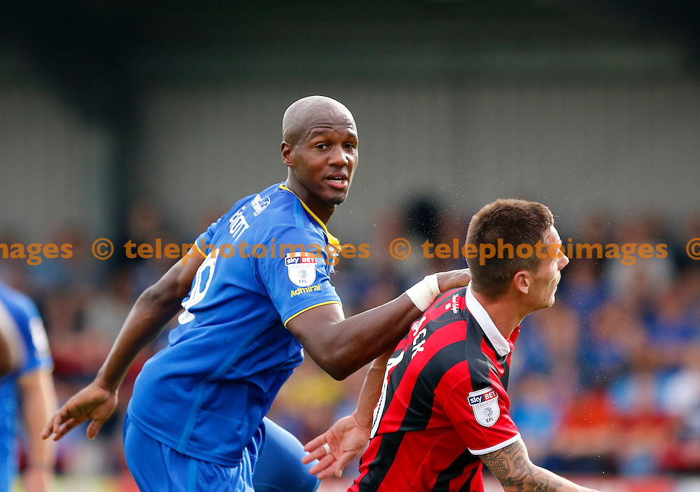 AFC Wimbledon's Tom Elliott in action during the Sky Bet League 1 match between AFC Wimbledon and Shrewsbury Town at the Cherry Red Records Stadium in Kingston. September 24, 2016.<br /> Carlton Myrie / Telephoto Images<br /> +44 7967 642437