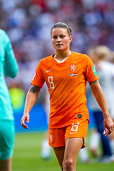 07-07-2019 FRA: Final USA - Netherlands, Lyon<br /> FIFA Women's World Cup France final match between United States of America and Netherlands at Parc Olympique Lyonnais. USA won 2-0 / Sherida Spitse #8 of the Netherlands