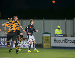 Falkirk's Luke Leahy scoring their fifth goal. <br /> Falkirk 5 v 0 Alloa Athletic, Scottish Championship game played at The Falkirk Stadium.
