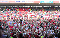 Photo: Leigh Quinnell.<br /> Bristol City v Rotherham United. Coca Cola League 1. 05/05/2007. Bristol City fans gather on the pitch to celebrate promotion.