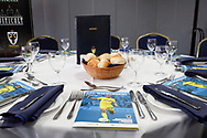 AFC Wimbledon pre match meal during the EFL Sky Bet League 1 match between AFC Wimbledon and Oxford United at the Cherry Red Records Stadium, Kingston, England on 29 September 2018.