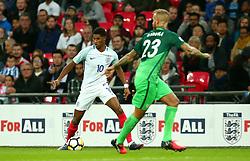 Marcus Rashford of England runs with the ball - Mandatory by-line: Robbie Stephenson/JMP - 05/10/2017 - FOOTBALL - Wembley Stadium - London, United Kingdom - England v Slovenia - World Cup qualifier