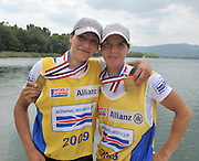 Banyoles, SPAIN,  GER LW2X, women's Lightweight double sculls, Gold Medalist at the FISA World Cup Rd 1. Lake Banyoles.  Sunday,  31/05/2009   [Mandatory Credit. Peter Spurrier/Intersport Images]