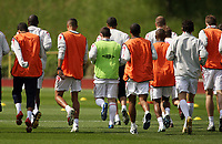Photo: Chris Ratcliffe.<br />England training session. 06/06/2006.<br />Wayne Rooney has a different coloured bib as England's warm up begins in the mountains of the Black Forest in Buhlertal.