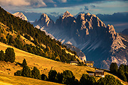Sunny autumn time in Dolomite mountains